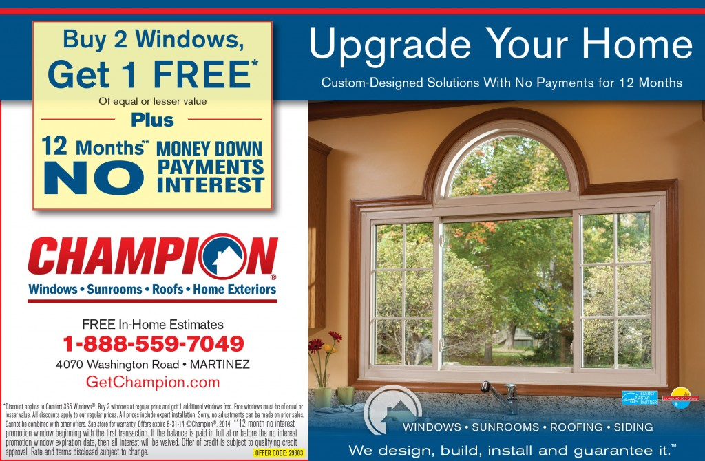Champion Windows Sunrooms Roofs Home Exteriors Augusta Georgia