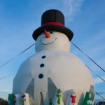 Bouncy, the world's tallest snowman will make an appearance at the