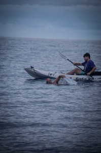 SPORTS-swimming-by-kayak
