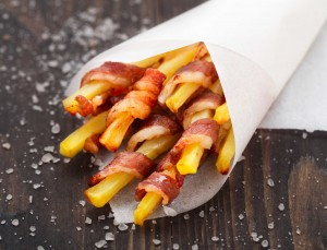 Bacon Wrapped French Fries Appetizers Snacks