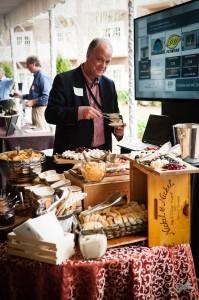 Wine Fest Man-at-food-table