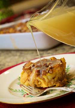 pumpkin-bread-pudding-with-rum-sauce