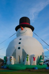 Bouncy, the world's tallest snowman, will make an appearance at Christmas in the Park