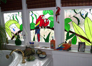 Creative-Parrot-window-trio